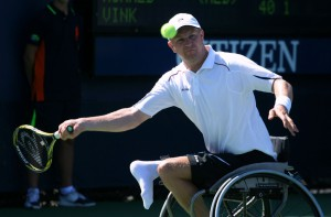 Ronald Vink op het US Open Wheelchair in 2011