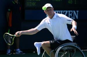 Ronald Vink op het US Open Wheelchair in 2011